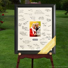 Anniversary Signature Frame Pay tribute to their everlasting love with our Personalized Celebrations Signature Frame. Whether they are celebrating their 10th, 25th or 50th anniversary, the signatures
