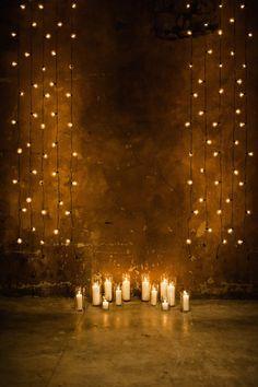 Romantically lit ceremony: http://www.stylemepretty.com/2014/03/18/20-stunning-ceremony-backdrops/