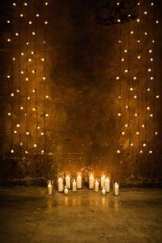 Romantically lit ceremony: http://www.stylemepretty.com/2014/03/18/20-stunning-ceremony-backdrops/