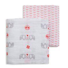 #Hydrofiel Doeken #Fresk Olifant Fresk hydrofiel doeken of #inbakerdoek. Set van 2 grote hydrofiele doeken van het merk Fresk. De ene doek heeft schattige olifantjes in grijs met roze en rood er...