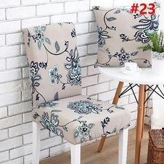 2019 New Decorative Chair Covers-Buy 6 - esszimmer dekoration Dining Room Chair Covers, Dining Room Chairs, Dining Furniture, Table And Chairs, Desk Chairs, Old Chairs, Slipcovers For Chairs, Upholstered Chairs, Stretch Chair Covers