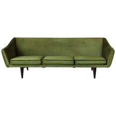 Illum Wikkelsø Three-Seat Sofa, 1950s | From a unique collection of antique and modern sofas at https://www.1stdibs.com/furniture/seating/sofas/