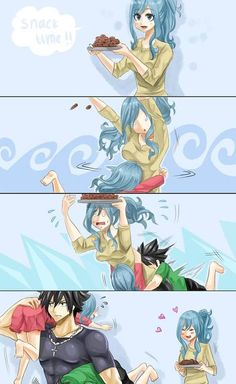 Gruvia is like literally my favorite couple in Fairy Tail. Rog Fairy Tail, Fairy Tail Kids, Fairy Tail Juvia, Fairy Tail Gray, Fairy Tail Funny, Fairy Tale Anime, Fairy Tail Family, Fairy Tail Love, Fairy Tail Guild