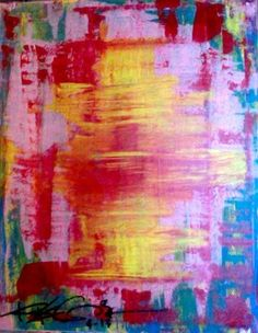 RegiaArt 8x10 inches painting on canvas. #pink