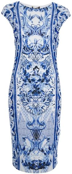 Printed Dress - ROBERTO CAVALLI. Another good choice for the Oscar Nominee Luncheon.