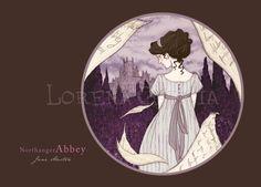 Northanger Abbey Postcard, by Lorena Garcia.