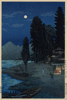 Takahashi Shotei (1871-1945) | Shore of Lake Chuzenji