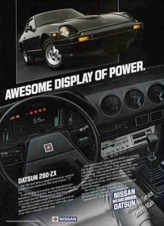 """Datsun 290-zx """"Awesome Display of Power"""" Nice (1983)"""