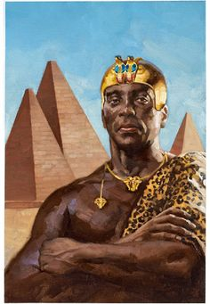 Taharqa the dual King of Nubia and the 25th dynasty of egypt and Sudan Originally known as Kemet and Kush.