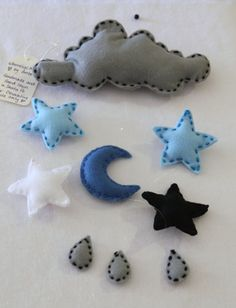 SALE: Starry Night Felt Baby Mobile