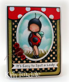 Love the colors for this lady bug card, not over the top. Very nicely shaded.