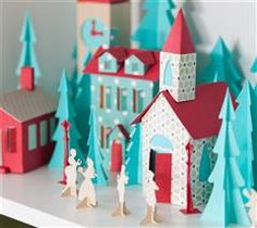 Project Center - Christmas Village Scene