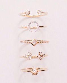 Diamond n gold rings