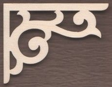 WT1690-Laser cut Lacy Scroll Bracket