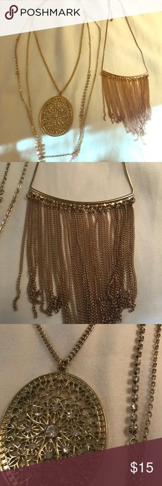Gold On-Trend Necklaces 2 for the price of 1. Gold on trend Necklaces. Different sizes -- see pics. Jewelry Necklaces