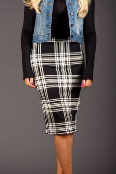 Plaid Pencil Skirts! 4 Colors! Fun fashion for Fall! | available on Jane #womens #clothing