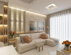 Top 100 modern living room interior design and wall decorating ideas 2020 - latest modern living room interior design ideas 2020 and living room wall decoration ideas from has - Apartment Interior, Home Living Room, Interior Design Living Room, Living Room Designs, Living Room Decor, Drawing Room Interior, Drawing Rooms, Living Room Lighting, Decoration