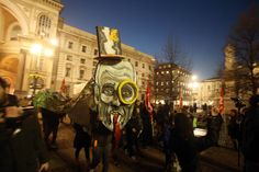 Photos of the day - December 7 2016People carry flags and...  Photos of the day - December 7 2016  People carry flags and effigies during a protest prior to the season opening of the famous Milan La Scala opera house with the original two-act version of the opera 'Madame Butterfly by Giacomo Puccini in Milan; an aerial view shows the autumn scenery by the Slender West Lake in Yangzhou east Chinas Jiangsu Province; a view of a mural at a street in Beirut Lebanon; migrating Cranes flock to the…
