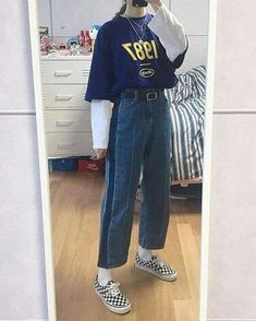 Great prices on stylish korean fashion ideas 70s Outfits, Skater Girl Outfits, Mode Outfits, Korean Outfits, Grunge Outfits, Trendy Outfits, Vintage Outfits, Fashion Outfits, Fashion Ideas