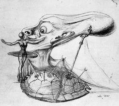 Salvador Dalí, Dibujo para la película 'Destino' de Walt Disney, 1946-1947