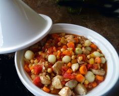 Crock Pot Moroccan Chicken, Chickpea and Apricot Tagine: Will make again and again! 1 1/2 lbs thighs, add carrots (not baby!), 1 can chickpeas., less honey. Next time add the lemon for  a bit more of a punch