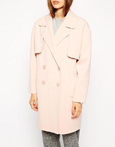 ASOS | ASOS Coat In Cocoon Fit With Stormflaps at ASOS