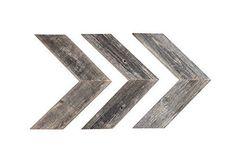 BarnwoodUSA Rustic Chevron Decorative Arrow Set of 3 100% Reclaimed Wood Gray #BarnwoodUSA #RusticPrimitive