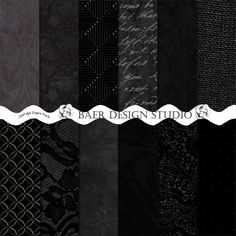 Black lace digital paper, black embossed digital paper, black script digital paper, black burlap digital paper, black photography digital paper. These instant download backgrounds can be used for creating photo cards, planner stickers, layouts, cards, invites and more.Purchase once and use over and over again for years to come.
