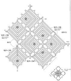 GRAFICO 钩针 四方形花块拼花衣(花块花样不对称) - 水心云影 - 水心云影的博客