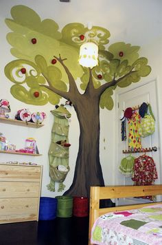 Love the tree, as well as the green accent wall shown in the rest of the post.
