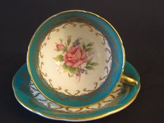 Vintage Aynsley Tea Cup Set Excellent Condition by EarthsTrove, $69.99