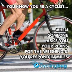 10 SIGNS YOU'RE A TRUE CYCLIST: http://thecyclingbug.co.uk/bugfeed/top-lists/b/weblog/archive/2014/10/15/10-signs-you-39-re-a-true-cyclist.aspx?utm_source=Pinterest&utm_medium=Pinterest%20Post&utm_campaign=ad Since bikes were first ridden, cyclists have developed a peculiar array of preoccupations and habits that signify their commitment to the sport.... #thecyclingbug #cycling #bike
