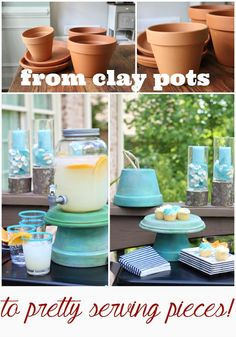 How to make serve ware from clay pots