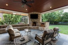 #patio #outdoor living #exterior #landscaping #fireplace #seating