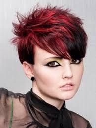 Rood haar met Highlights - Korte Kapsels