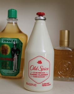Old spice from when men knew what to smell like and didn't have to be told by a man riding a horse.