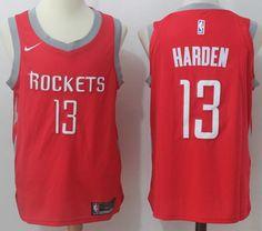 ebd0ba2d48e Nike Rockets  13 James Harden Red Stitched NBA Jersey
