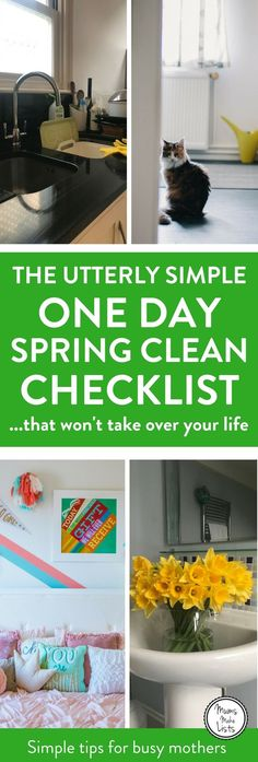 An easy to use Spring cleaning checklist full of tips and tricks for deep cleaning your home, with a FREE printable simple spring cleaning checklist for all the rooms in your home, from kitchen and bathroom to bedroom and living rooms. #Cleaning #CleaningTips #CleaningHacks #CleaningRoutines #cleaningschedule #SpringClean #SpringCleaning #SpringCleanout