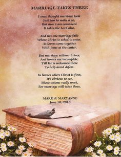 You can purchase this poem framed at the image source address: http://www.bonanza.com/booths/GiftMaker/items/Bible__MARRIAGE_TAKES_THREE__Poem_with_Matching_Mat_Frame
