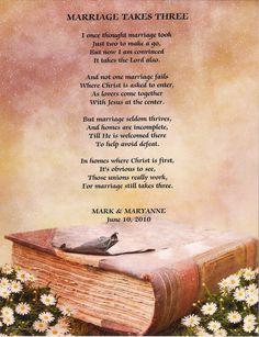 Marriage Takes Three - I love this poem!