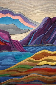 Marion Cragg Bennet « Tapestry Artists of Puget Sound – Embroidery Desing Ideas Weaving Designs, Weaving Projects, Weaving Art, Weaving Patterns, Loom Weaving, Hand Weaving, Tapestry Loom, Tapestry Crochet, Contemporary Tapestries