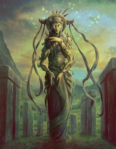 Danu the Mother by JasonEngle on DeviantArt Fantasy Forest, Fantasy Rpg, Dark Fantasy, Demonology, Arte Horror, Fantasy Inspiration, Orient, Gods And Goddesses, Deities