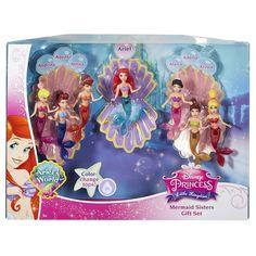 Amazon.com: Disney Princess Favorite Moments Mermaid Doll 7-Pack - The Little Mermaid Sisters: Toys & Games