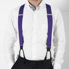 Purple Haze - Classic Purple Suspenders (Button-on) #jjsuspenders #weddingstylesuspenders
