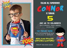 Superman Calling All Superheroes Birthday by OneFiveDesigns