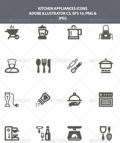 Kitchen Appliances Icons Part 98