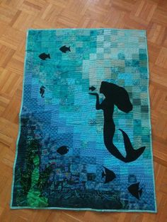 (7) Name: 'Quilting : Mermaid Wall hanging
