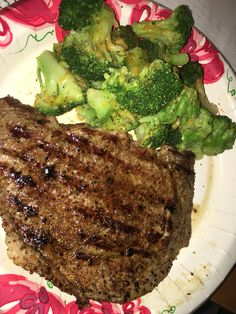 Broccoli with cheese and steak.