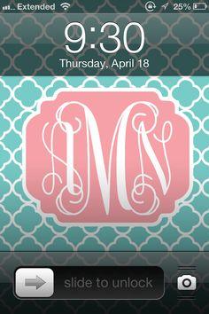 Make Your Own Monogram Desktop Wallpaper | Do It Yourself | Pinterest