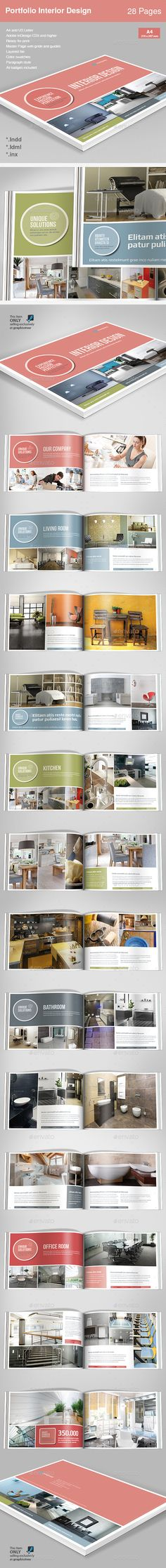 Cool Minimal Mint Brochure Download here http\/\/googl\/nBaZvw - interior design brochure template